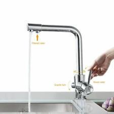 360° 3 Wege Küchenarmatur Wasserfilter Wasserhahn Spültischarmatur Mischbatterie