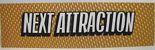 1960s 70s NEXT ATTRACTION Movie Theater Holographic Advertising Sign Gold
