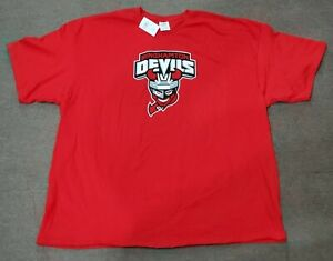 Binghamton Devils AHL Red Primary Logo T-Shirt Shirt Adult 3X-Large 3XL - NEW