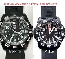 LUMINOX WATCH BROKEN CRACKED GLASS CRYSTAL REPLACEMENT REPAIR SERVICE