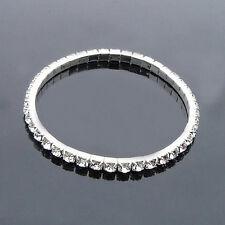 Beauty Rhinestone Charm Women/Girls Stretch Bracelet Bangle Crystal Jewelry Gift