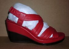 AEROSOLES Women's Wedge Platform Sandals Shoes Red Size 7.5