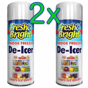 2x Fridge Freezer De Icer Spray Defrost Ice Quickly Anti Bacterial Deicer 200ml