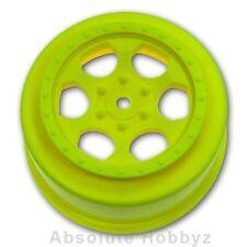 DE Racing Trinidad SC Wheels (Yellow) (1pr) (TEN-SCTE/22SCT) - DER-SCT-10Y