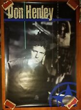 """Don Henley US promotional poster 1 sided VG+ Cond. appx. 26"""" x 38"""" D"""