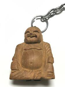 VINTAGE SANDALWOOD BUDDHA KEYCHAIN 70s-GREAT SMELL!!