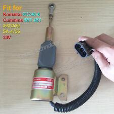Fuel Shutoff Solenoid Valve SA-4756 24V for Komatsu PC240-6 Cummins 5.9L 6BT 4BT