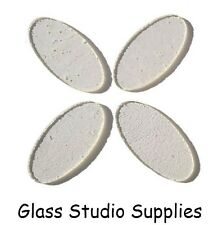 4 Pre Cut 5.5cm Clear Ovals for Fused or Stained Glass 90coe (PCOC5)