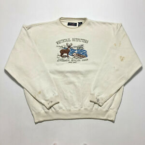 Vintage Croft & Barrow Sweatshirt Heavyweight Embroidered Buck Jumper Size XL