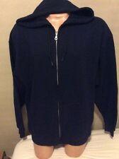 Fruit Of The Loom NEW Jacket Hood Men XL Fleece Blue Zipper Hoodie Sweatshirt