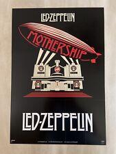 "Led Zepplin "" Mothership "" Promo Poster, Plus "" Mothership "" Promo Pins"
