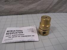 Caterpillar 8D4755 Miniature Regulator for Water or Compressed Air 400 PSIG NEW