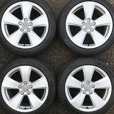 "Set Genuine Audi A3 17"" Alloy Wheels 5 spoke Rims 225 45 Tyres 8V0 Sportback 8V"