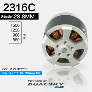 DUALSKY Motors ECO-C V2 2316C Brushless Outrunners KV 1500/1250/980/880 for RC