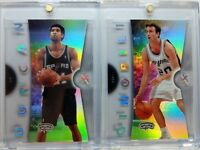 Rare Lot of 2: 2006 07 06/07 FLEER EX Spurs Tim Duncan Ginobili ACETATE Premium