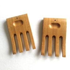 Wooden Salad Hands Servers Wood Set Claws Forks Pasta