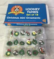 Vintage Looney Tunes Mini Christmas Ornaments Set of 18 Sealed With Box 1999 NEW