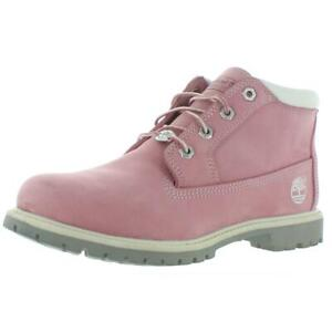 Timberland Womens Nellie Pink Nubuck Chukka Boots Shoes 9 Medium (B,M) BHFO 2927