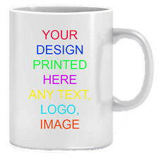 10x Personalised Mug Custom Photo Cup Gift Box Coffee Image/Text