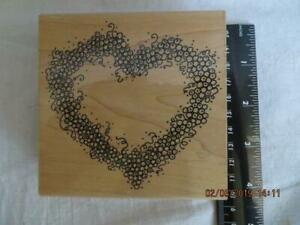 Rubber Stamp LOVE!!! Heart,Valentines Large Chunky Stamp,Wooden,1993 JB1215 RARE