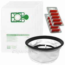 "10 Bags + Cloth Filter for Numatic Henry HVR200 HVC200 NRV200 Vacuum 12"" + Fresh"