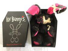 Luv Bunny´s Dead Cute Plush Co.JP Bunny Jinx schwarz hot pink Gothic Cuddly Toy