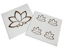 Lotusblüte Aufkleber gold Set mit 5 Stück 3 cm, 7,5 cm ALOB030S