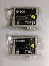 2 x Originali EPSON t0614 ORSETTO GIALLO STYLUS d68 d88 dx3800 dx3850 dx4200