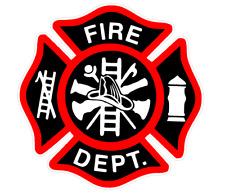 "Printed 4"" Fire Deparment Logo (T22) Firefighter Vinyl Decal Sticker Car Window"