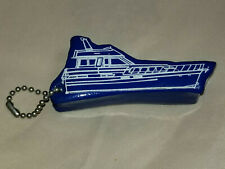 Vintage Nos Floating Key Chain Fly Bridge Boat Water Float Blue Yacht
