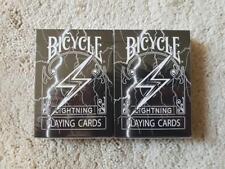 2 x Bicycle Playing Card Decks Black Lightning Limited Rare Professional Custom-