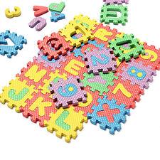 36Pcs Soft Foam Baby Gxildren Kids Play Mat Alphabet Number Letter Puzzle Pj