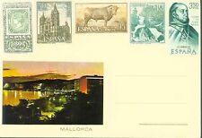MALLORCA SPAIN POSTCARD MADE WITH 5 (FIVE) CINCO UNUSED NON POSTED POSTAL STAMPS
