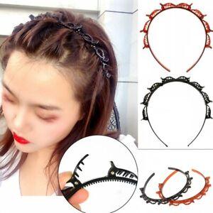 2x Haarreif mit Haarspange Haarklammer Hair Twister Frisurenhilfe Hairstylehilfe