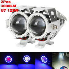 2X 125W U7 LED Driving Headlight Fog Lamp Spot Light For Honda Magna 750 VF750C