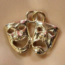9 ct GOLD  new solid drama masks charm