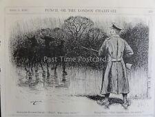 WW1 1916 Sentry a MONTA nuovamente CAMP-fermare! che va qui? PUNCH CARTOON 5 aprile