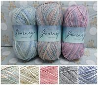 Hayfield JOURNEY DK Acrylic + Wool Pastel Variegated Knitting Yarn 100g Ball