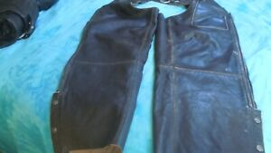 Harley Davidsonvintage brown leather chaps LG great shape  pre-loved