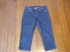 Women's CALVIN KLEIN Skinny Crop Capri Dark Wash Jeans Stretch Sz 27