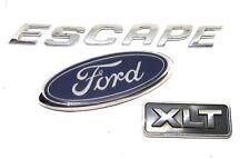 01-07 Ford Escape Rear Emblem Badge Symbol Trunk Hatch Liftgate XLT Name Lot