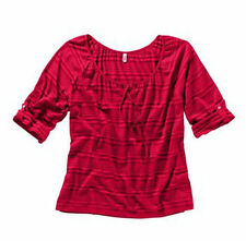Gestreifte locker sitzende 3/4 Arm Damenblusen, - tops & -shirts aus Baumwolle