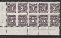CANADA 1935-65 3c POSTAGE DUE IN BOTTOM LEFT BLOCK No 1 SG D20 MNH.
