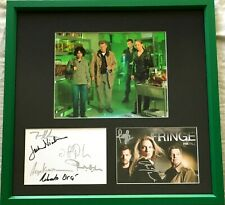 Fringe cast autographed signed 2009 SDCC 5x7 cards 8x10 photo Jackson Noble Torv