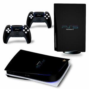 PS5 Disc Edition Skin Decal Sticker - Black Retro PS5 - FREE P&P