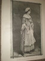 Lily Langtry in She Stoops to Conquer by W H Overend 1881 print ref AV