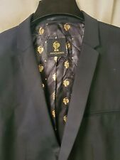 NWT Noose & Monkey Black Blazer Suit Jacket Mens Sz 48R Skinny Fit