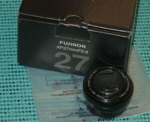 Fuji Fujifilm XF 27mm f2.8 Fujinon Super EBC ASPH Lens X-Mount