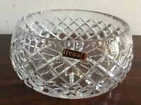 Beautiful Vintage Hand Cut Crystal Bowl Made In Poland In Original Box
