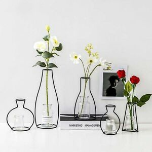 Iron Line Flower Vase Metal Plant Holder Nordic Styles Home Garden Decor UK